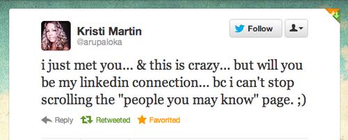 Inspired by Kristi Martin tweet